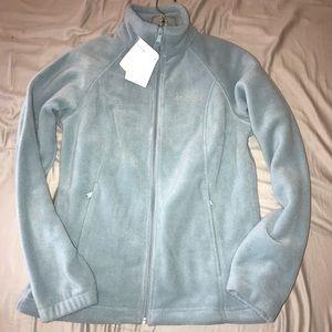 Brand New Light Blue Columbia Fleece Zip up Jacket